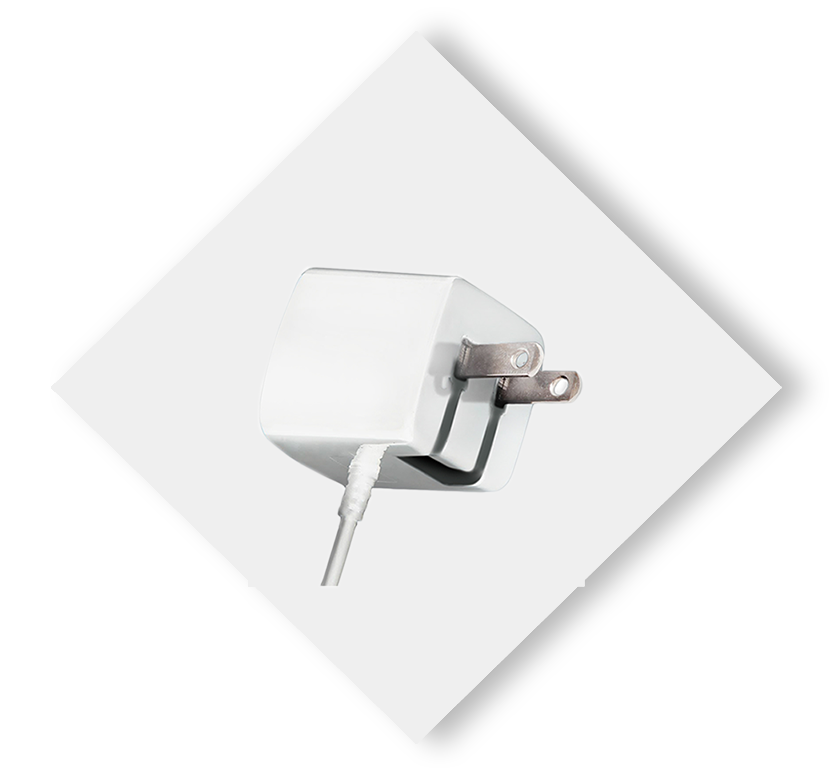 Apple Certified Wall Charger White 3ft hover