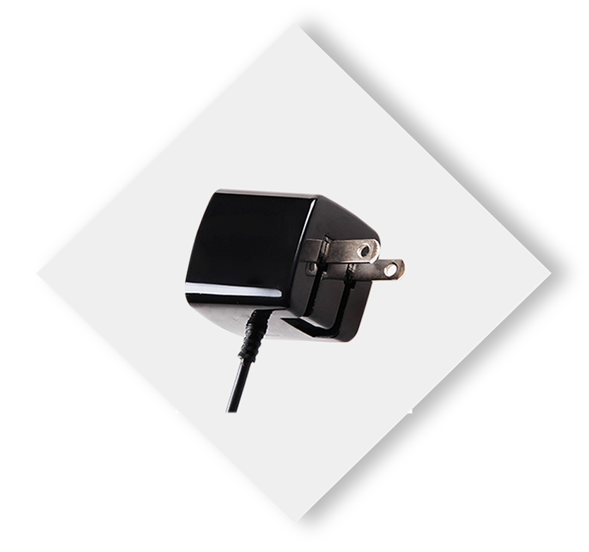 Apple Certified Wall Charger Black 3ft hover